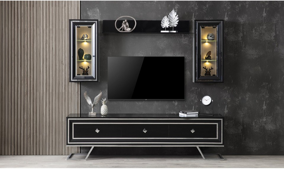 Selvi Siyah Tv Ünitesi