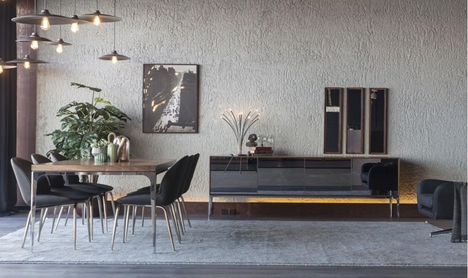 Silver Modern Yemek Odası