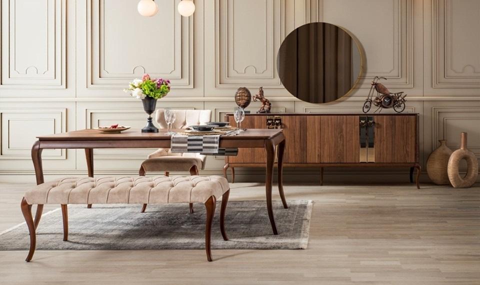 Wood Modern Yemek Odası Takımı