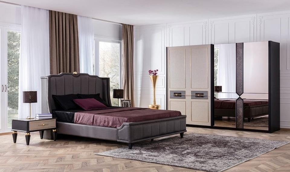 Gold Art Deco Modern Yatak Odası