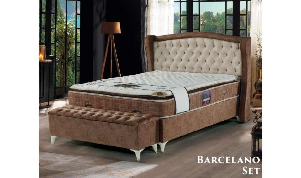 Barcelona Yatak Baza Başlık Set 160x200