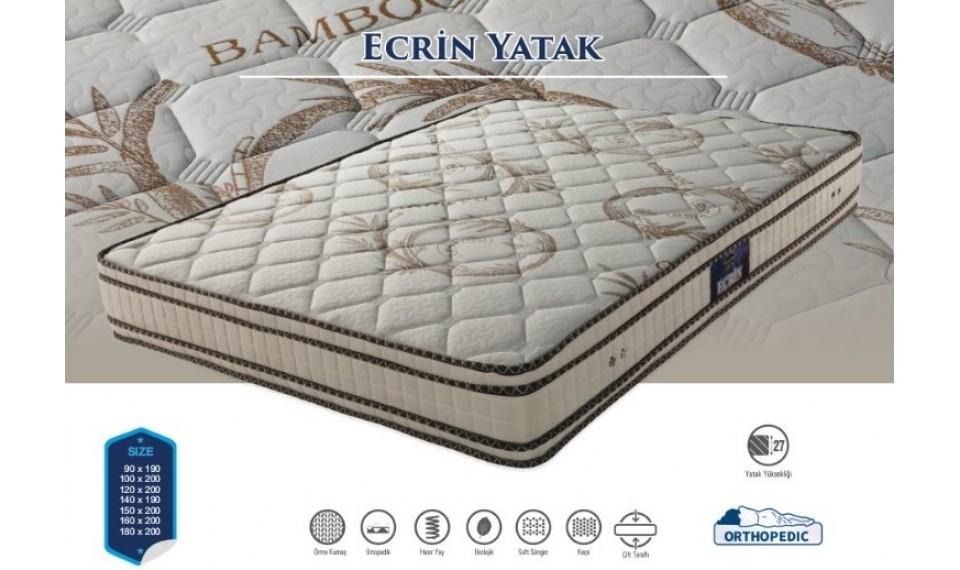 Ecrin Yatak Baza Başlık Set 160x200