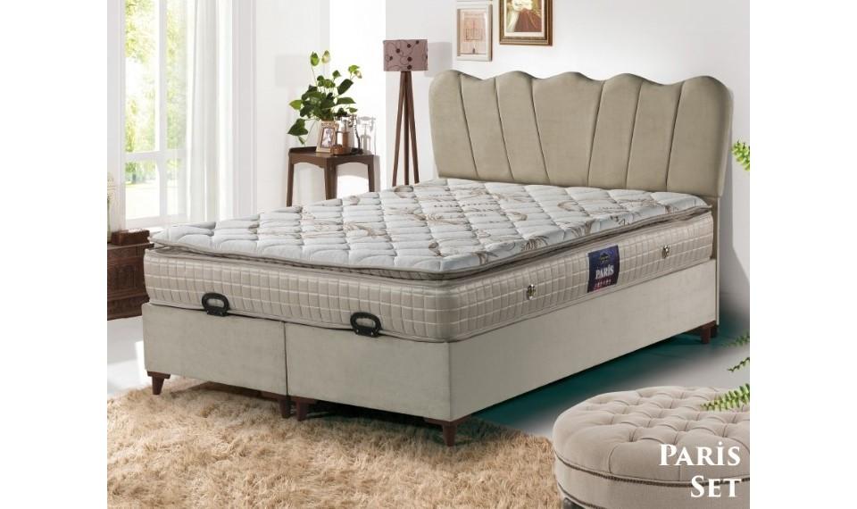 Paris Yatak Baza Başlık Set 160x200