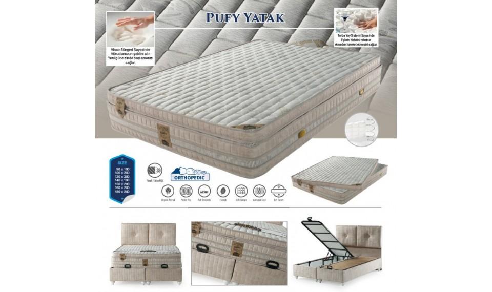 Pufy Yatak Baza Başlık Set 160x200