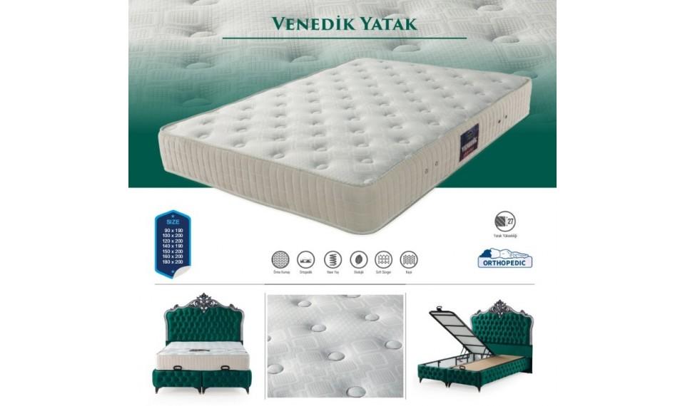 Venedik Yatak Baza Başlık Set 160x200